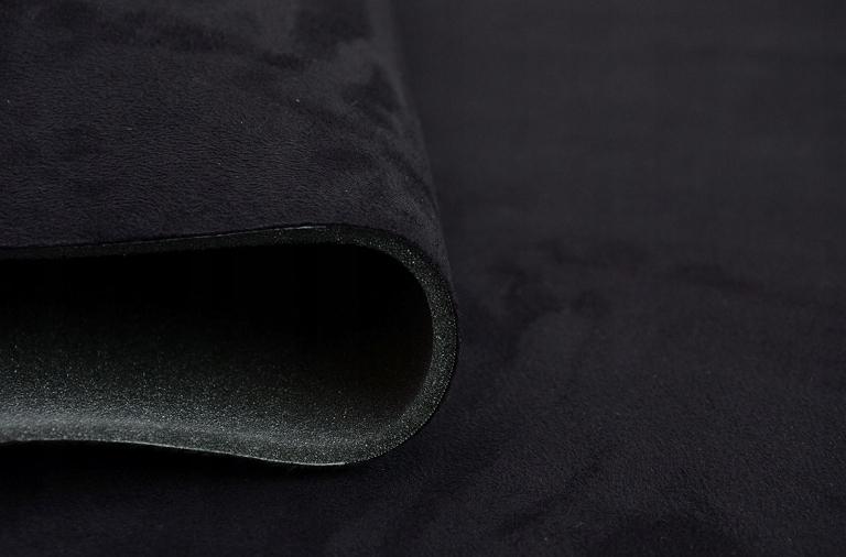 0,5 mb Ткань автомобильная нубук обивка потолка Черная