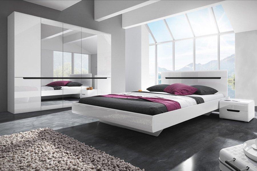 Спальня Гектор, Helvetia шкаф кровать Белый блеск