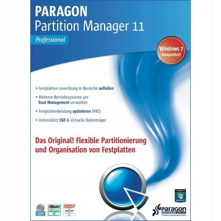 Купить Paragon Partition Manager 11 Professional BOX ORGI на Otpravka - цены и фото - доставка из Польши и стран Европы в Украину.