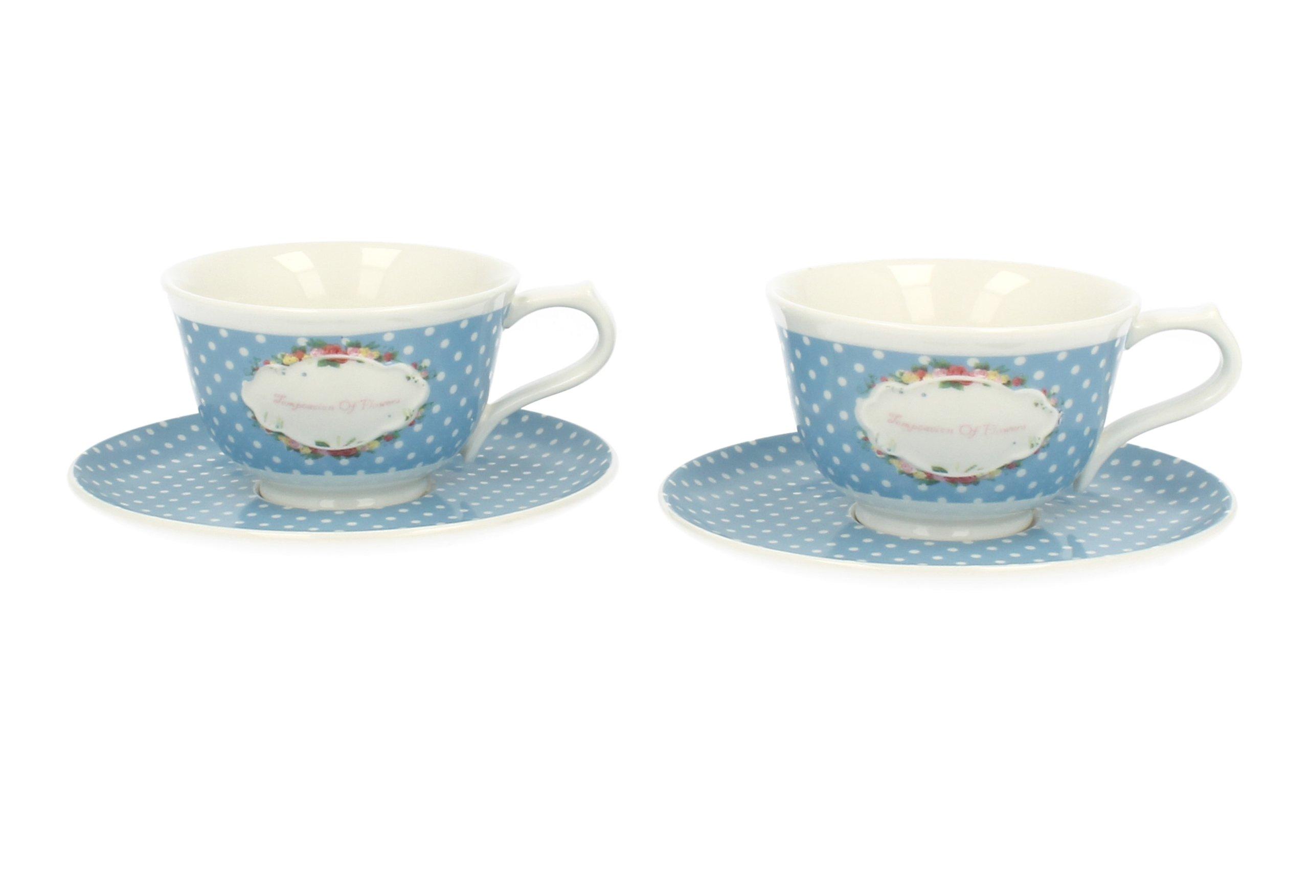 Poháre na čaj pre 2 osoby V Retro DARČEK