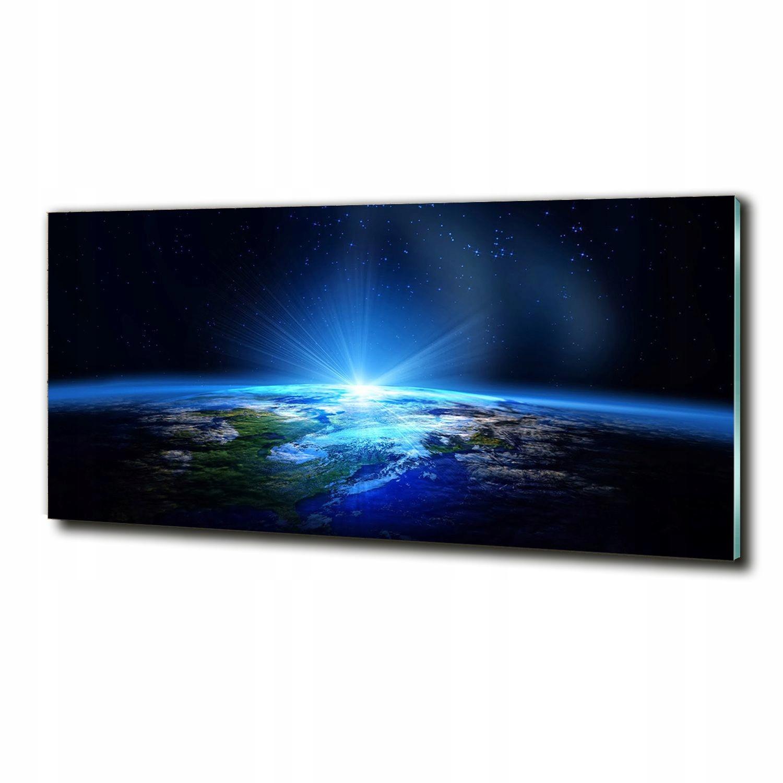 Veľký sklenený fotoobraz Planéta Zem 125 x 50