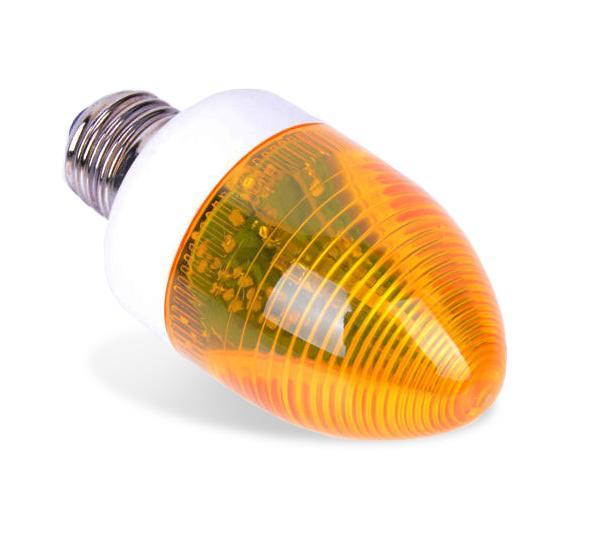 Žiarovka Strobo Disco E27 žltý flash signál