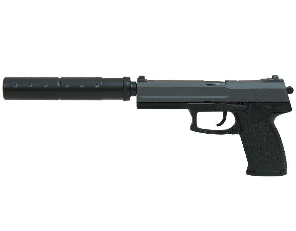 Пистолет для страйкбола DL60 Socom (15918) с глушителем