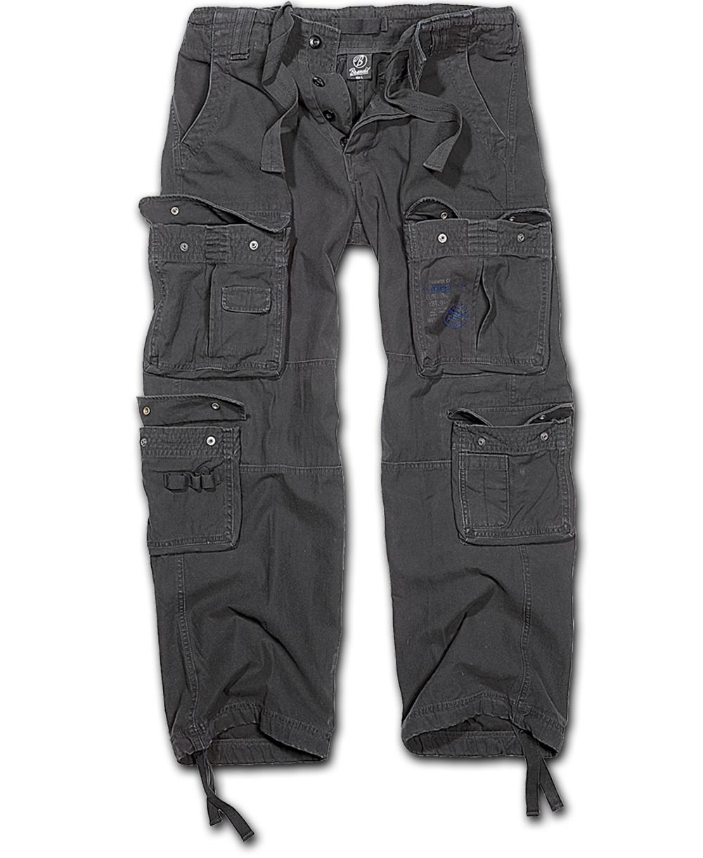 Nohavice BRANDIT Čistý Vintage čierna XXL