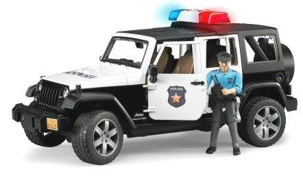 Bruder 02526 Policajný JEEP + policajt + signál