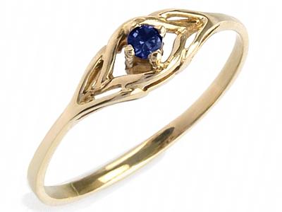 ZŁOTY pierścionek z SZAFIR zaręczynowy wys w 24h