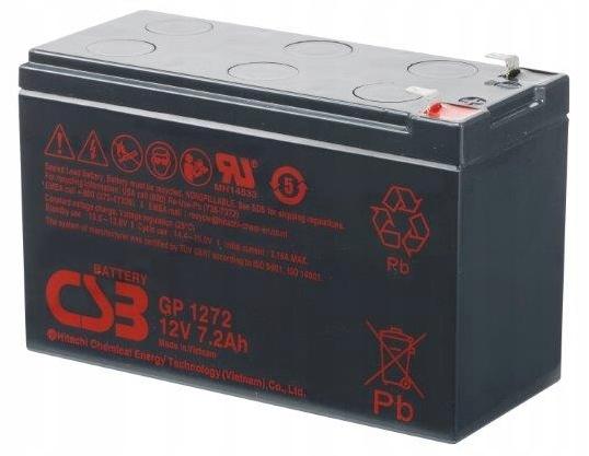 Аккумулятор гель AGM CSB GP 1272 F2 (12 В 7,2 Ач)