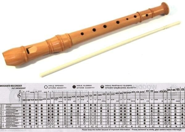 Item The simple WOODEN FLUTE is the BEST school FOR LEARNING