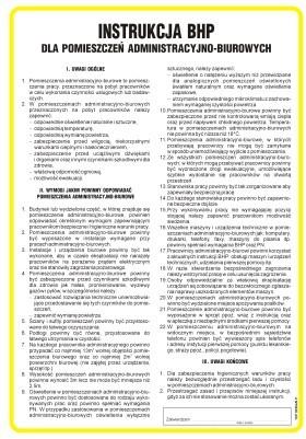 Pokyny pre administratívne a kancelárske miestnosti