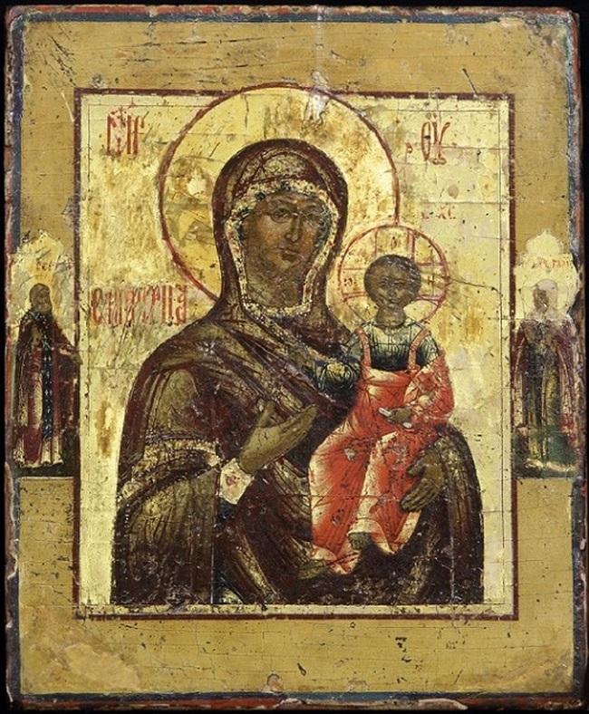 Icon Matka Božie Smolensk, Rusko, Jarosław, XIX