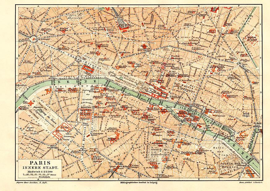 Mapa Paríža