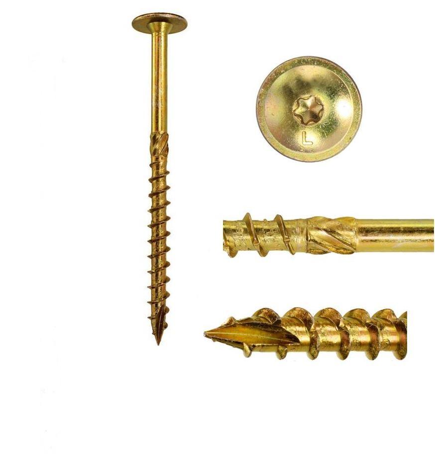 Skrutkovaná skrutka na strešnú strunu 8x100mm 10ks torx