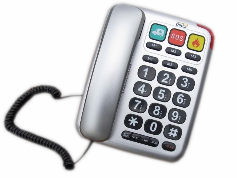 Telefon stacjonarny dla seniora LJ 300 DarTel sreb