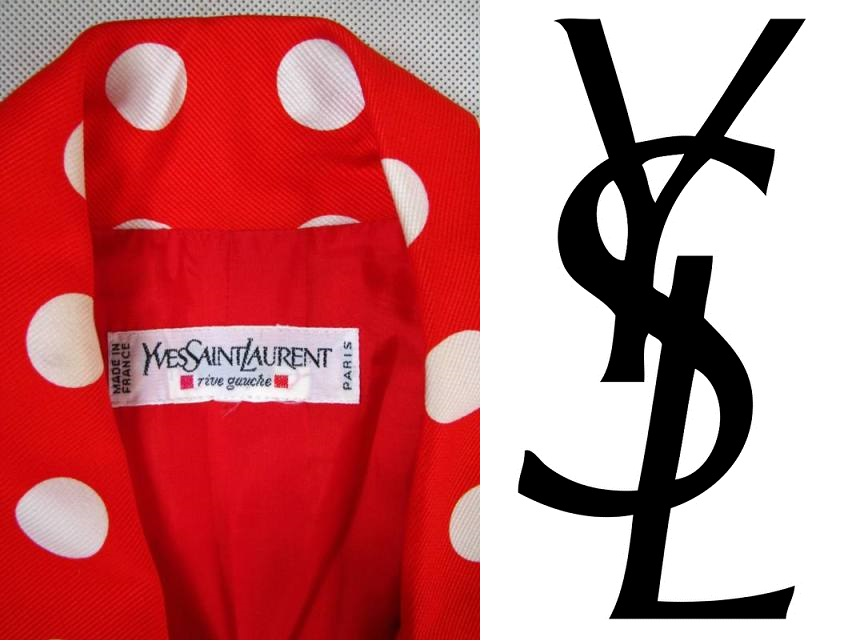YSL polka dot polka dot retro design diva 36 38