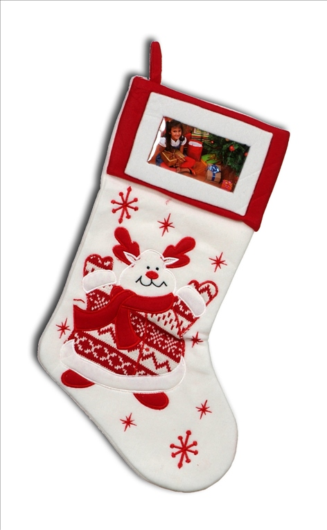 Vianočné ponožky rám Saint Santa Claus darček