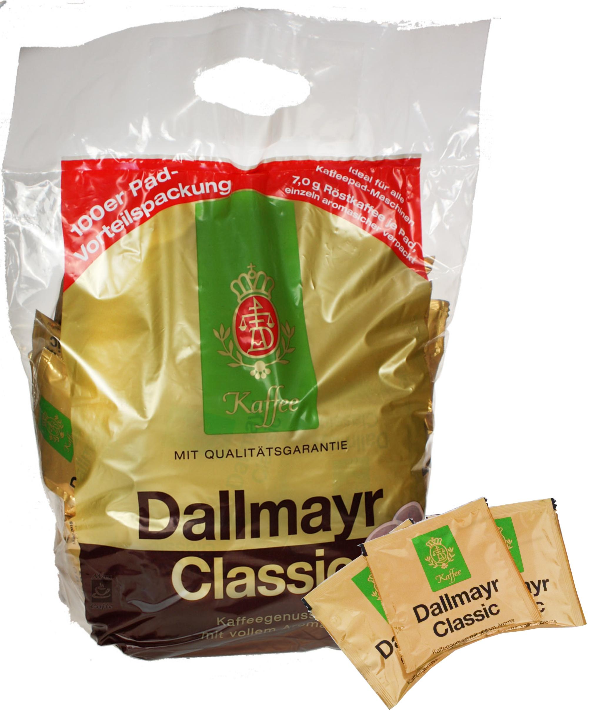 кофе Dallmayr CLASSIC 100 pads SENSEO