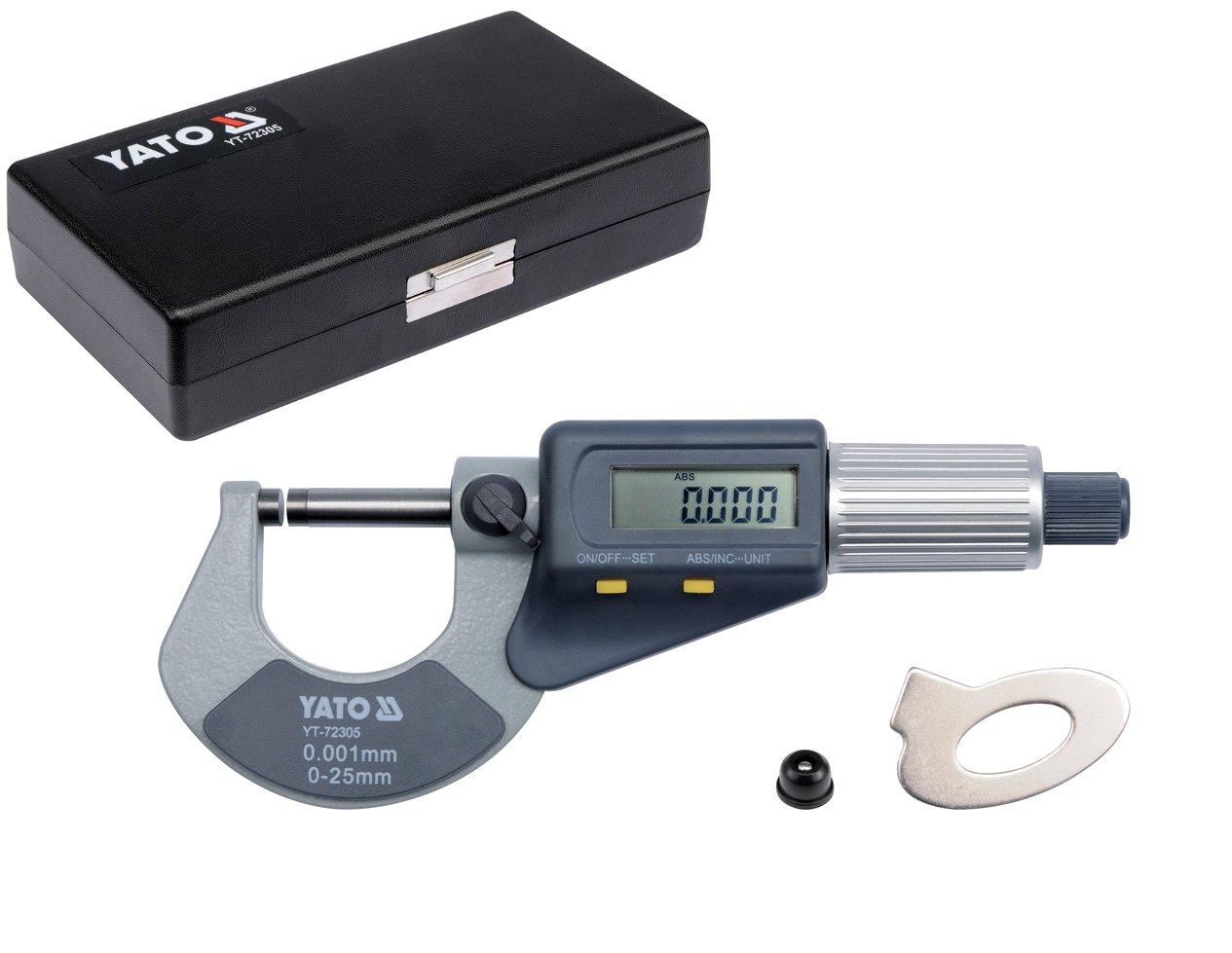 Elektronický mikrometer 0-25mm YT-72305 YATO CEFRO