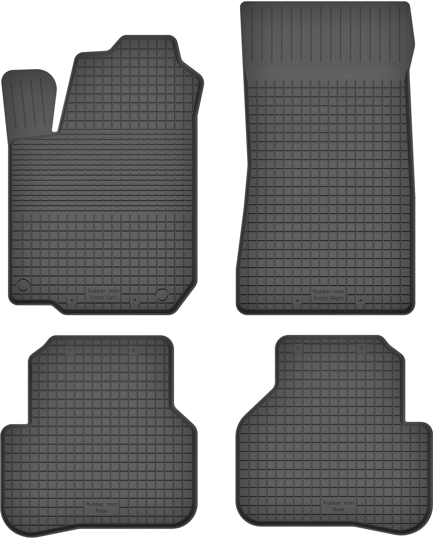 Renault Twingo II (07-14) КОВРИКИ РЕЗИНОВЫЕ КОРЫТКО