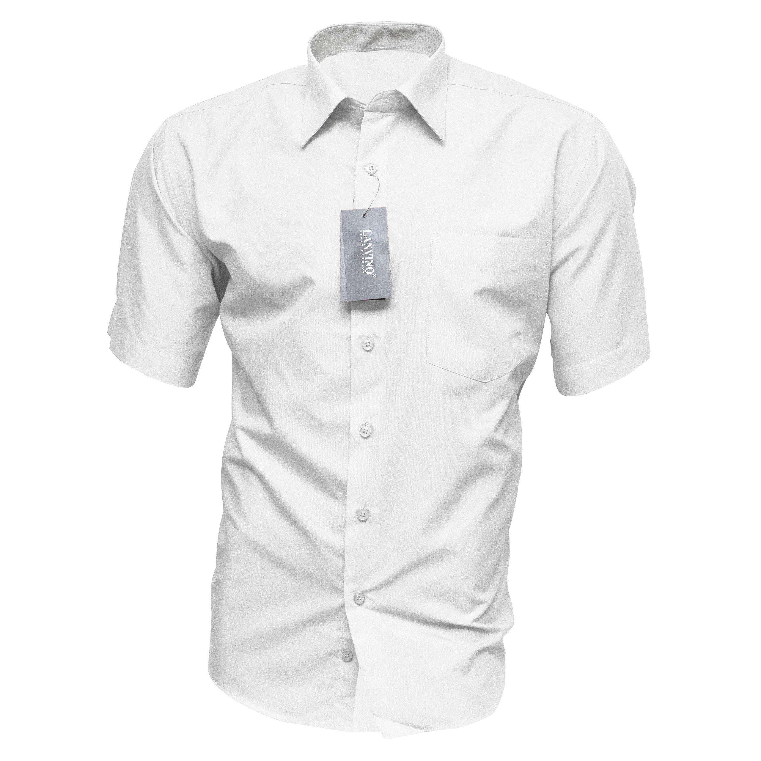 Купить 40/41 Мужская Рубашка БЕЛАЯ с коротким классический Хлопок на Otpravka - цены и фото - доставка из Польши и стран Европы в Украину.