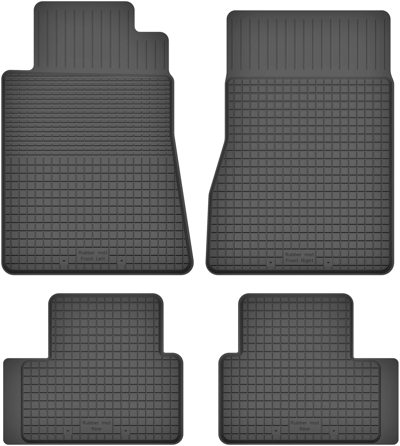 Mercedes A-Класс W169 (04-12) РЕЗИНОВЫЕ КОВРИКИ