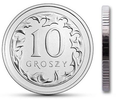 Чеканка 10 грошей 2014 г. с мешком