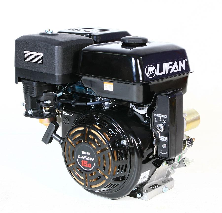 Двигатель LIFAN 15KM электрический Ввод в эксплуатацию стартер