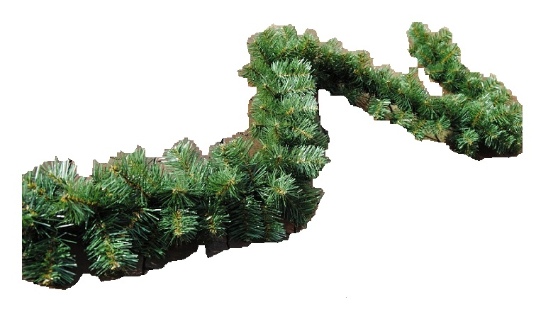 GIRLANDA Зеленая цепочка искусственной елки 300 см.