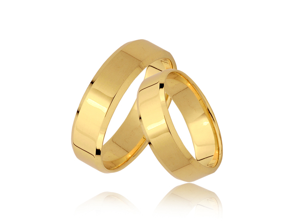 Item GOLD wedding RINGS-PAIR PR 333 5 mm with CHAMFER