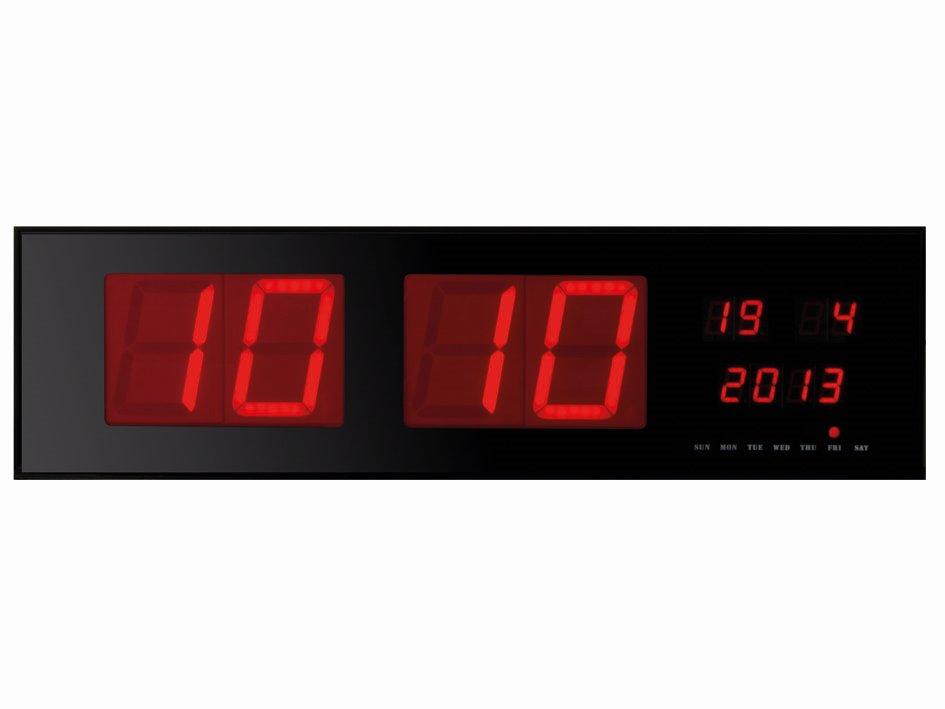 WC235RL Nástenné hodiny priemyselné LED s dátumom 83 cm