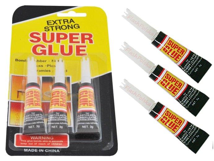 КЛЕЙ SUPER GLUE быстрый и мощный 3 штуки в комплекте