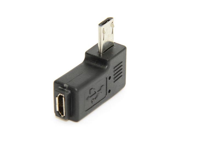 Micro USB Adaptér pre Micro USB M / F vľavo