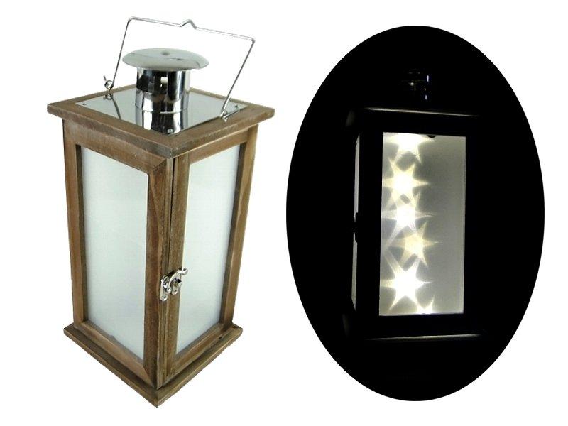 Záhradné lucerni drevené LED svietidlá (E4)