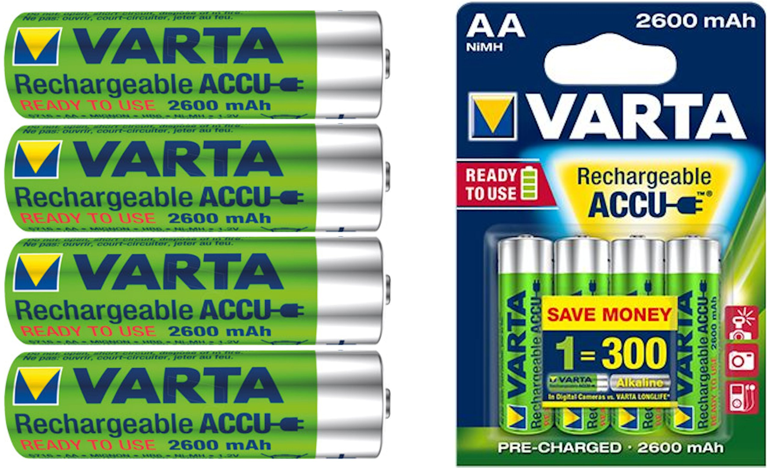 VARTA R6 AA READY2USE 2600 mAh Akumulatorki NOWOŚĆ
