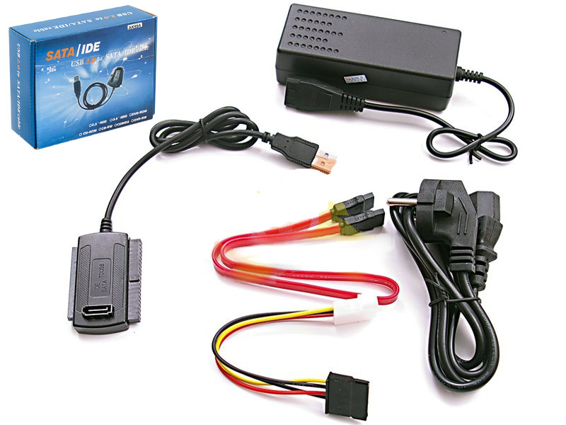 "Item Adaptor USB-IDE 3,5"" 2,5"" SATA, ATA + power ADAPTER *"