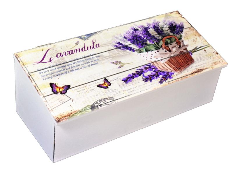 Box Drevené Casket Lavender Provence 27cm