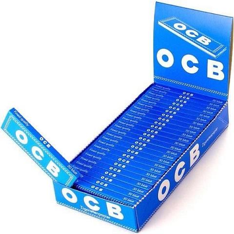Ткань бумаги блефует OCB синий ящик 25 штук