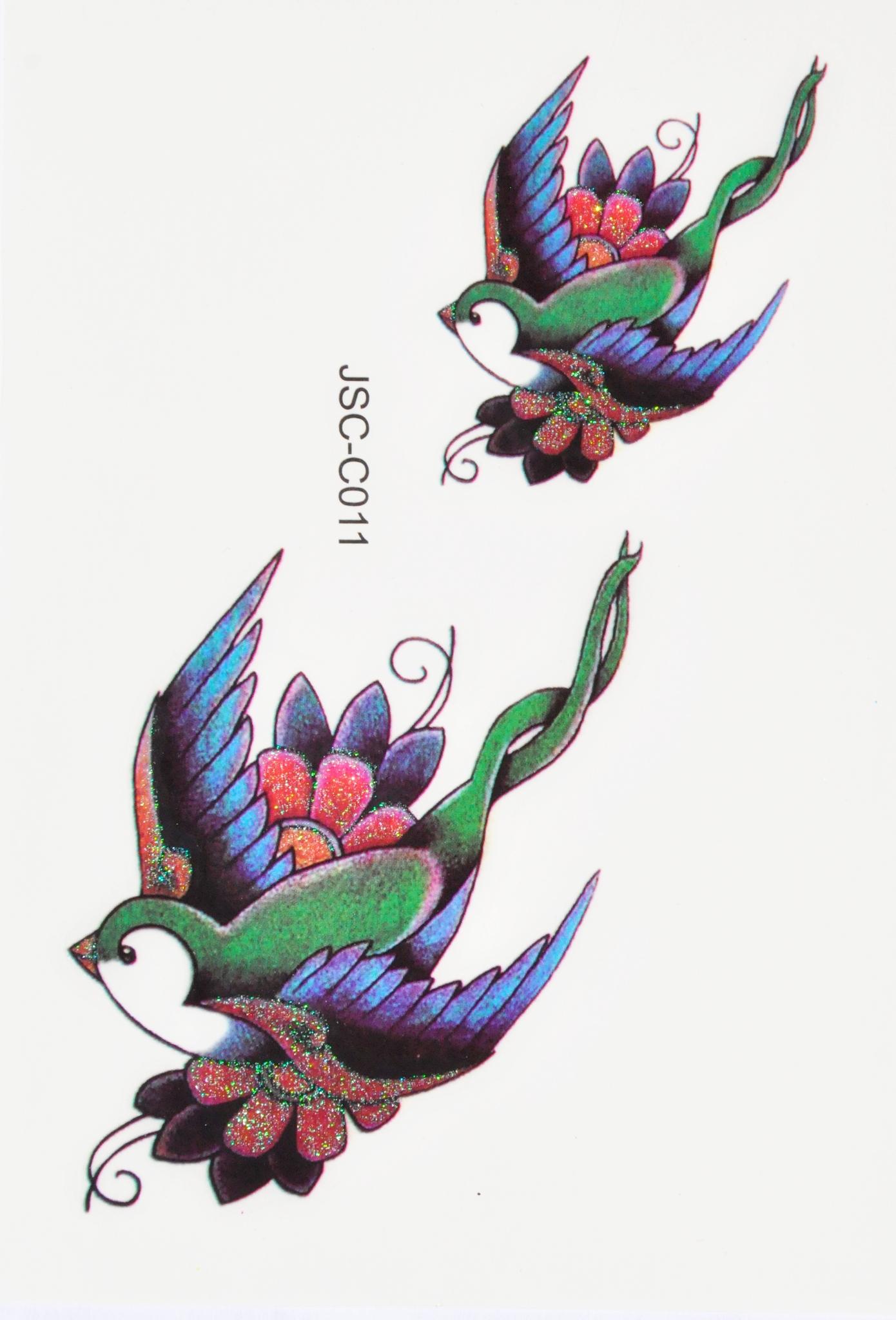 Tatuaże Tatuaż Dla Dzieci Rajskie Ptaszki Ptaki