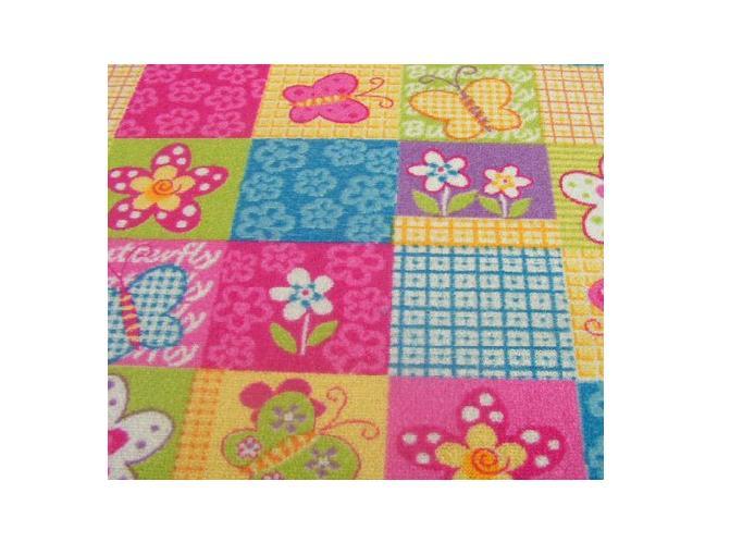 Detský koberec 74x265 motýľ motýle motýle