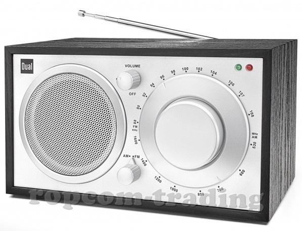 Rádio Retro Hi-Fi Dual č. 2 drevené kovové drevené