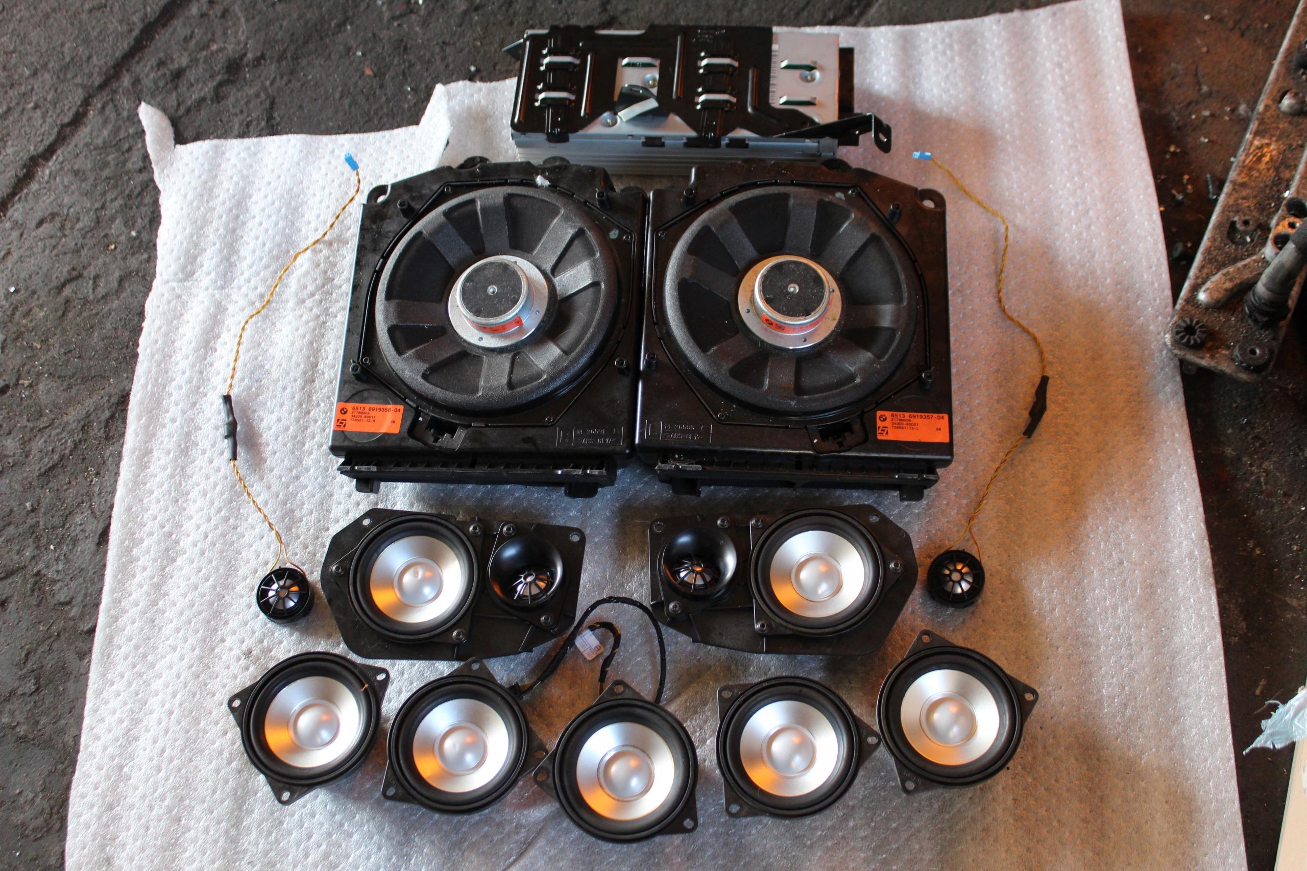 bmw e61 комплект динамиков звуковой logic 7