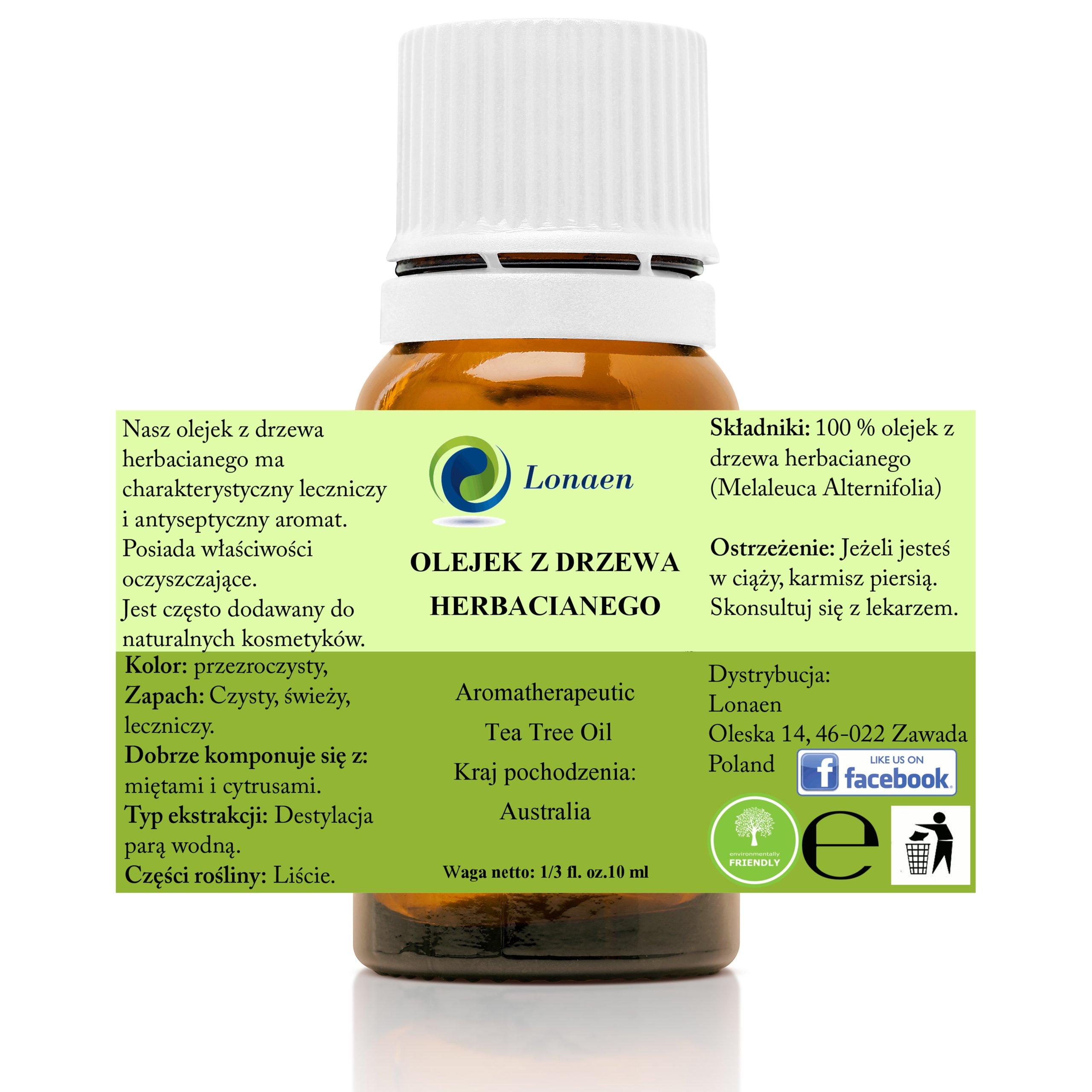 OLEJEK Z DRZEWA HERBACIANEGO TEA TREE 10 ML LECZY