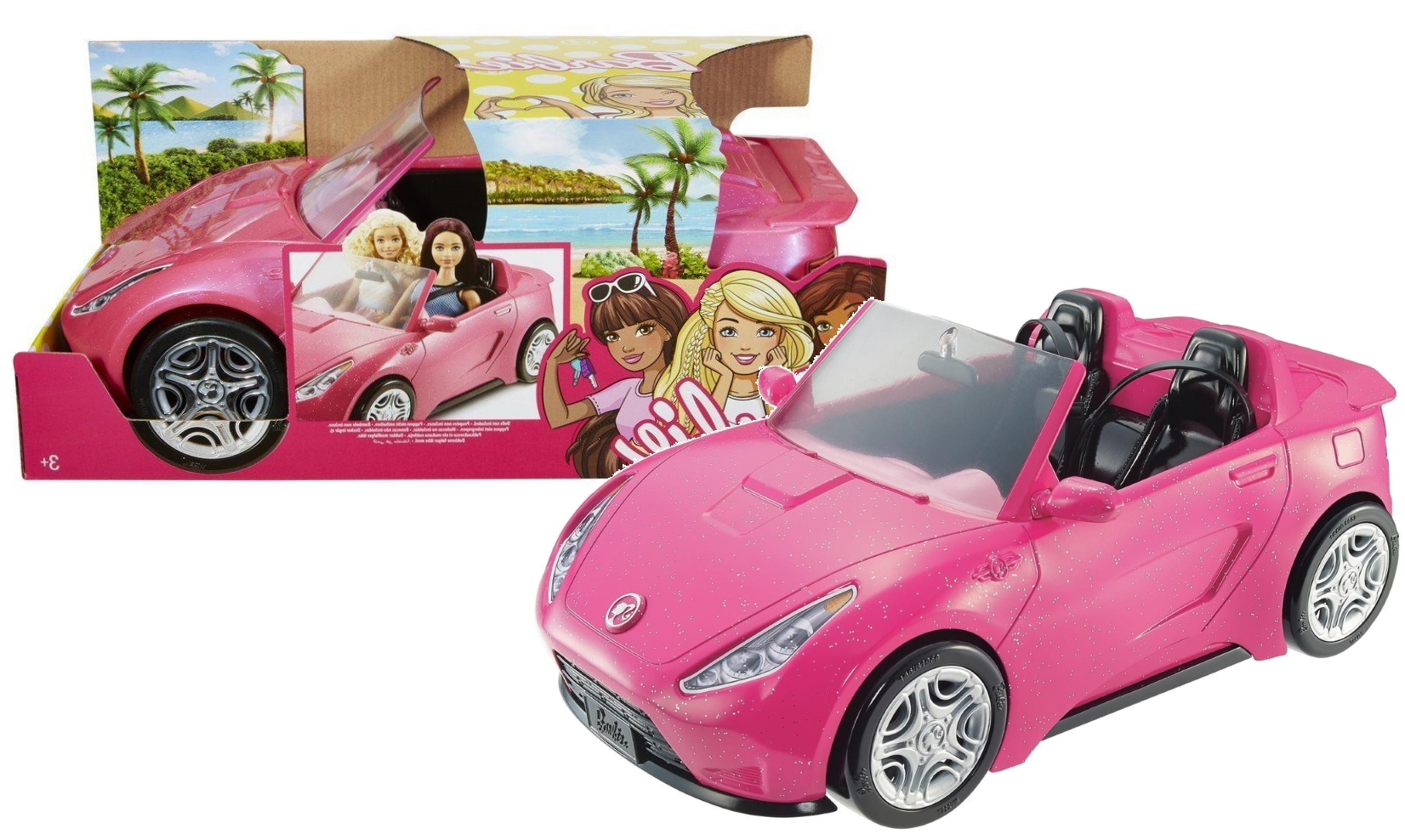 Barbie Ružová Cabriolet DVX59 auto pre bábiky
