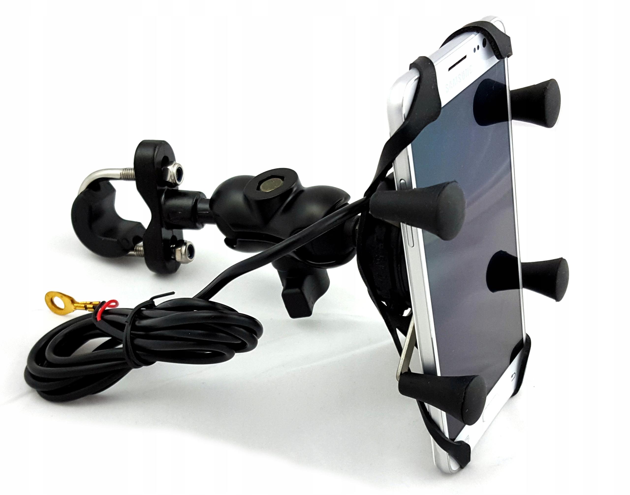 MOTOCYKLOWY UCHWYT RAM NA TELEFON LUSTERKO ON OFF