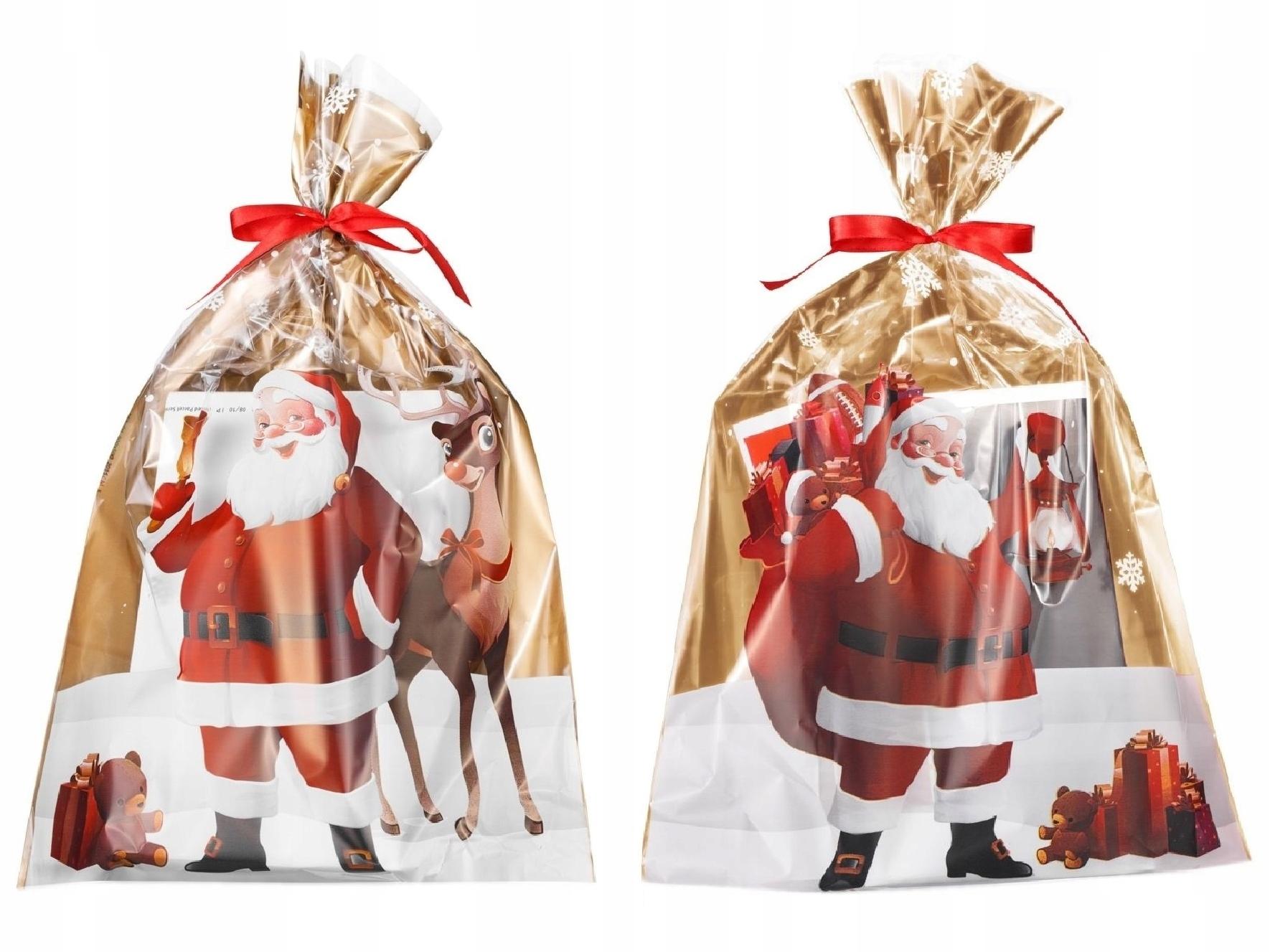 Пластиковые пакеты рождественский подарок санта-КЛАУС 25x40 25 NMTZŁ