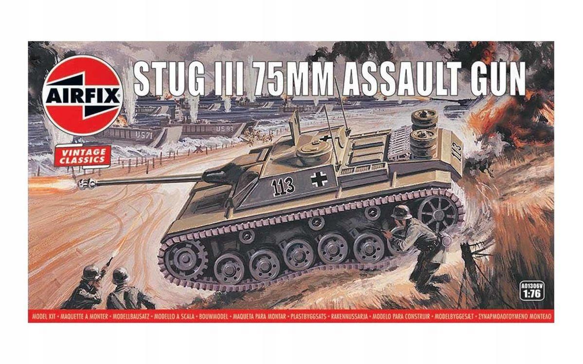 Stug III 75MM Útočná Zbraň Vintage Klasiky 01306v