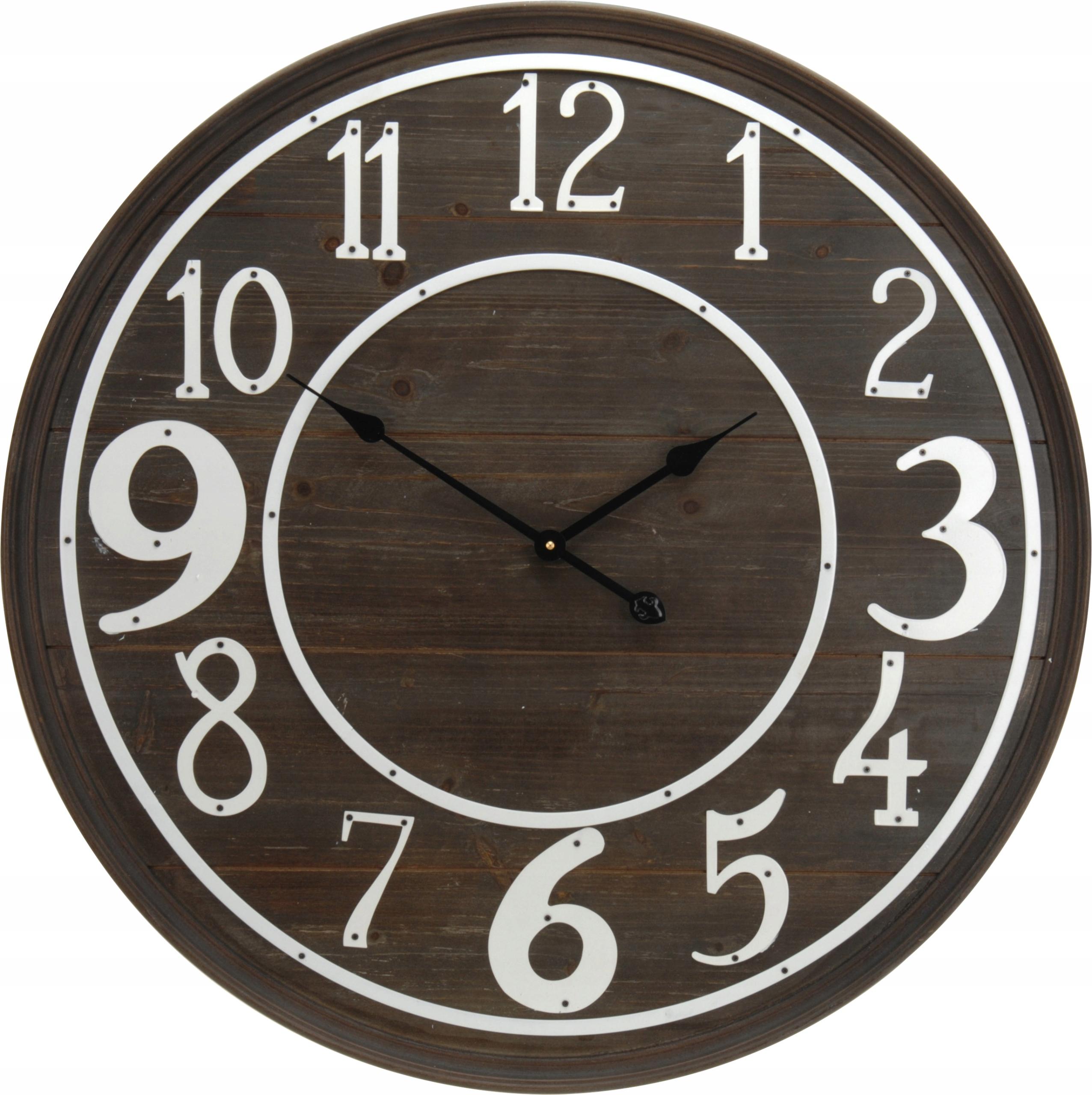 bf3780d47 veľké nástenné hodiny Vintage 80 cm hnedá