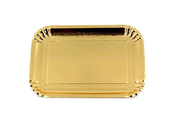 Купить ЛОТКИ ELITE золотые одноразовые 26x35cm ТОЛСТЫЕ 10 шт на Otpravka - цены и фото - доставка из Польши и стран Европы в Украину.