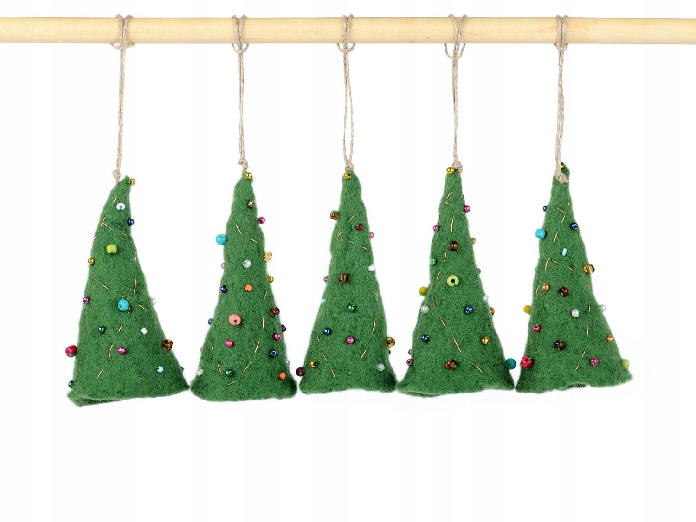 Ozdoby Dekoracje świąteczne Drzewka Z Filcu 5 Szt