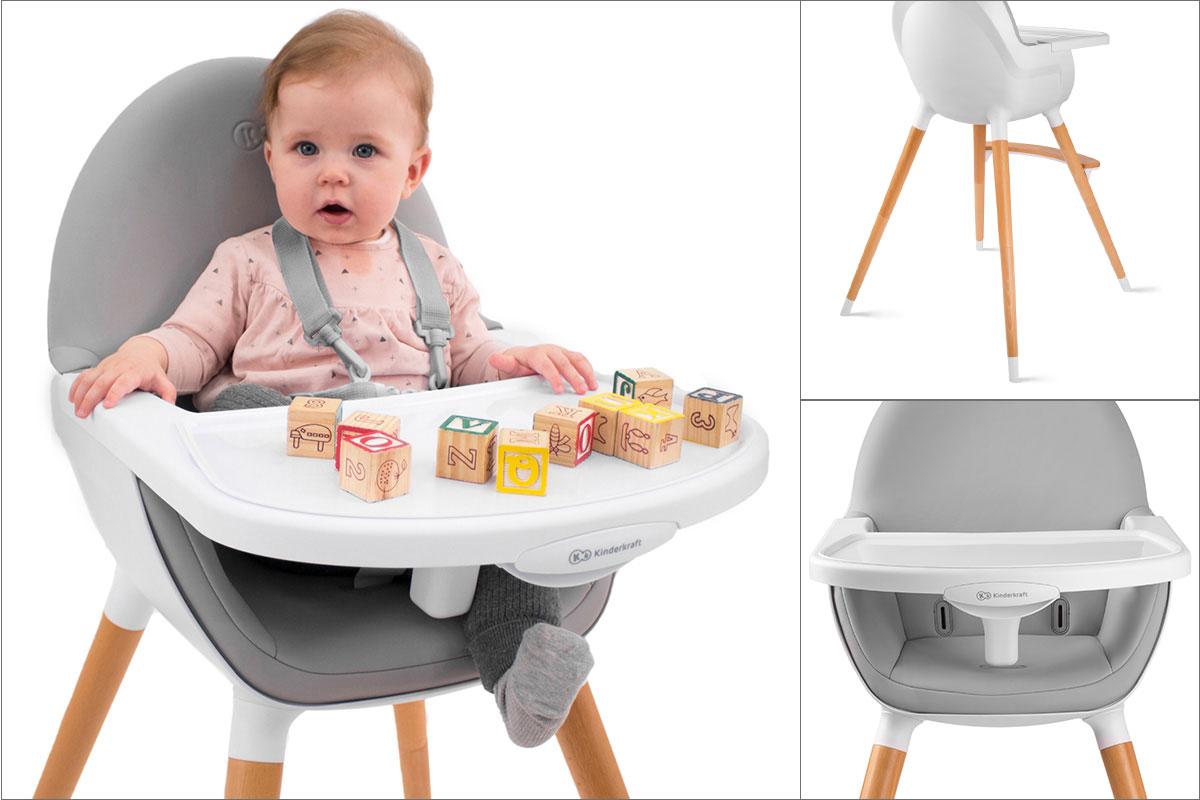 Детское кресло-качалка Стульчик для кормления Kinderkraft Ширина изделия 65 см
