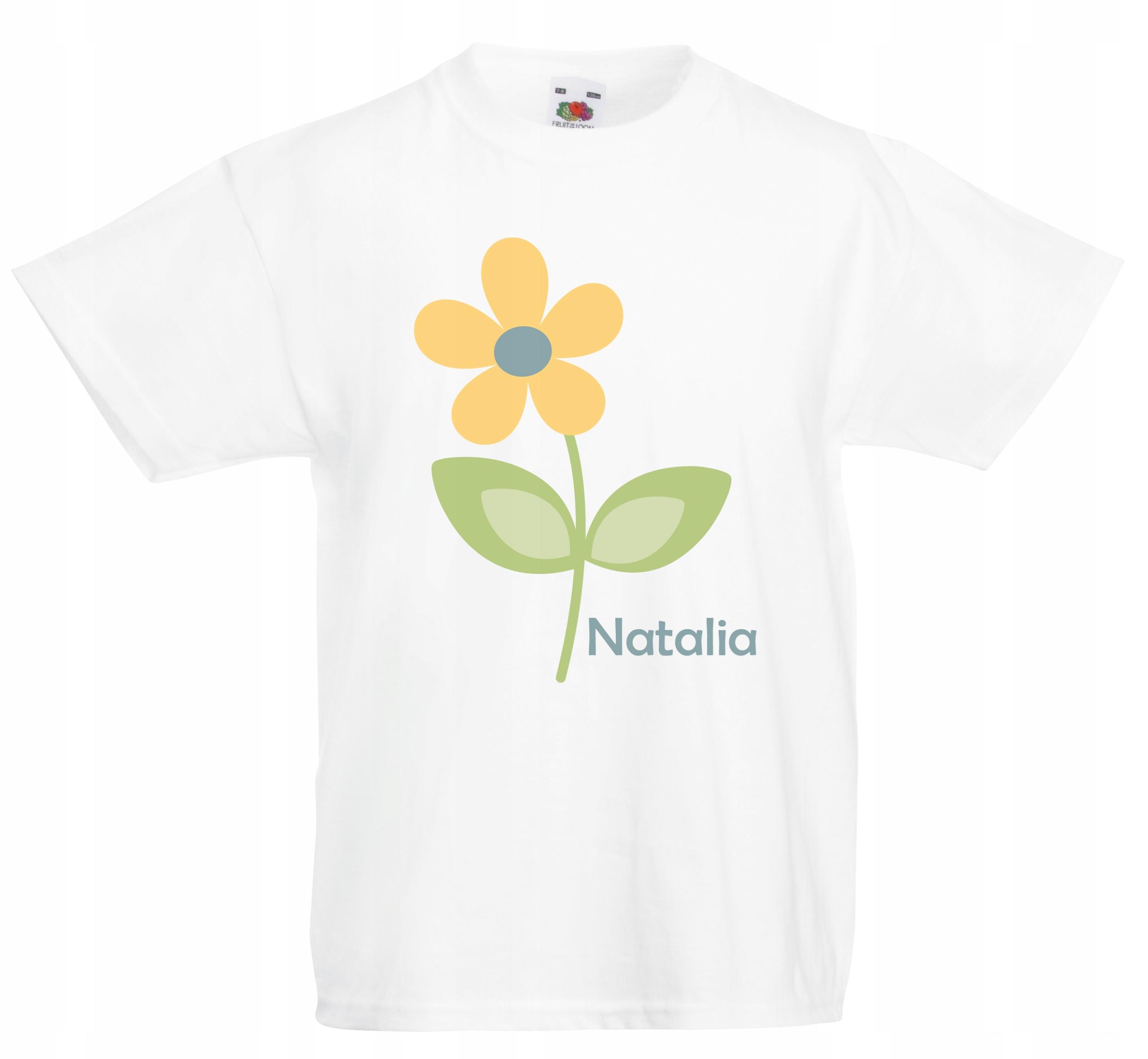 43052f0c2 Koszulki z imieniem DZIECI tshirt KWIATEK 164 7768485510 - Allegro.pl